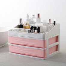 HIPSTEEN Desktop Drawer Storage Box Comestics Sundries Organizer 2 Layers Bedroom Container Living Room Item
