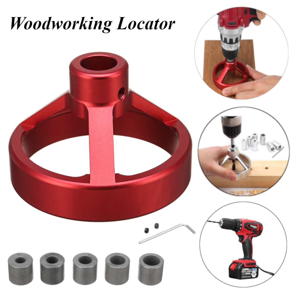 08560 Carpentry Puncher/Drill Vertical Fixture/Roundwood Tenon Hole Puncher/Woodworking Woodworking Locator Puncher