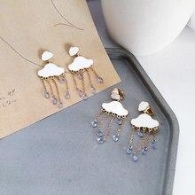 Cloud Rain Drop Earring Water Drop Personality New Fashion Graceful Tassel Weather Earring graceful multilayered rhinestone water drop bracelet for women