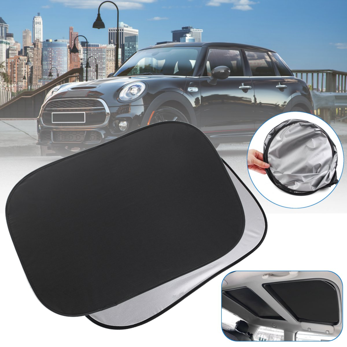 Sunroof Shade-Sunshade Sunshade-Decoration Window Heat-Isolat Foldable New for MINI Cooper