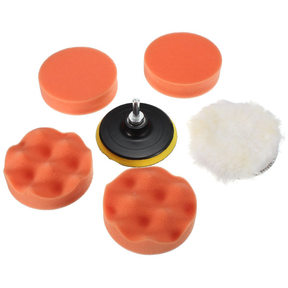 Tools Hand & Power Tool Accessories 7pcs High Density 3 Inch Polishing Sponge Wheel Buffing Pad Set Drill Adaptor M10 For Glass/car Polisher Electric Drill