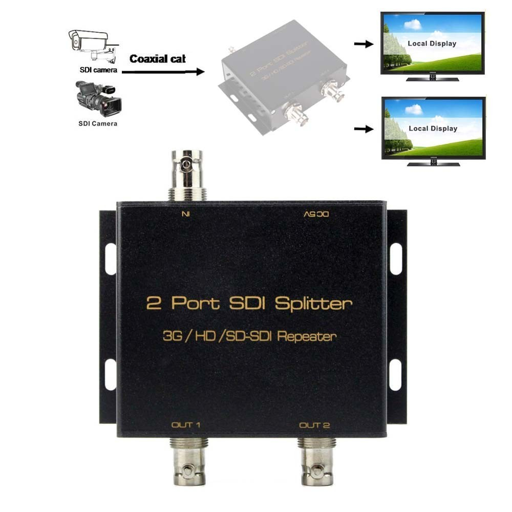 4-Port BNC Coax Composite Video Splitter Distribution Amplifier CCTV DVR 1x4 NEW