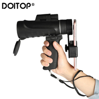 Doitop 10x42 Zoom Mobile Cell Phone Lens Monocular Scope Waterproof Monoculars Telescope With Clip for IPhone Samsung Huawei LG