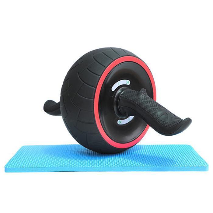 Nouveau garder les roues sans bruit roue abdominale ronde Ab rouleau formateur avec tapis pour l'exercice Fitness équipement de gymnastique à domicile