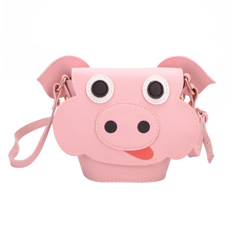 Kinder- & Babytaschen Bescheiden 2019 Frauen Handtaschen Crossbody Sling Leder Kinder Niedlichen Tier Schwein Muster Kinder Crossbody Schulter Taschen Bolsa Feminina