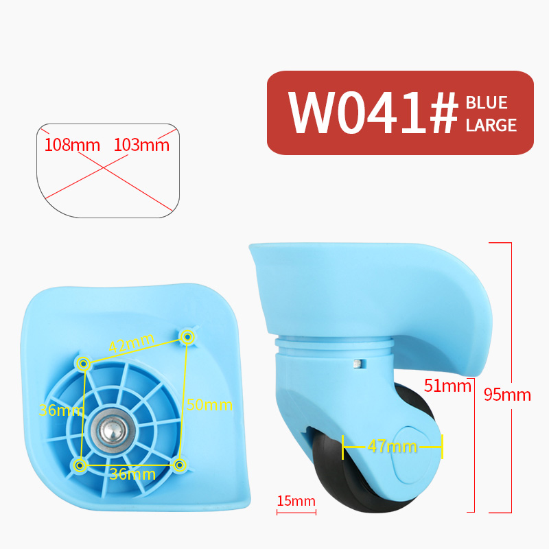 Suitcase Replacement wheel repair suitcase caster universal rolling luggage accessories Bag caster Colored mute luggage wheels