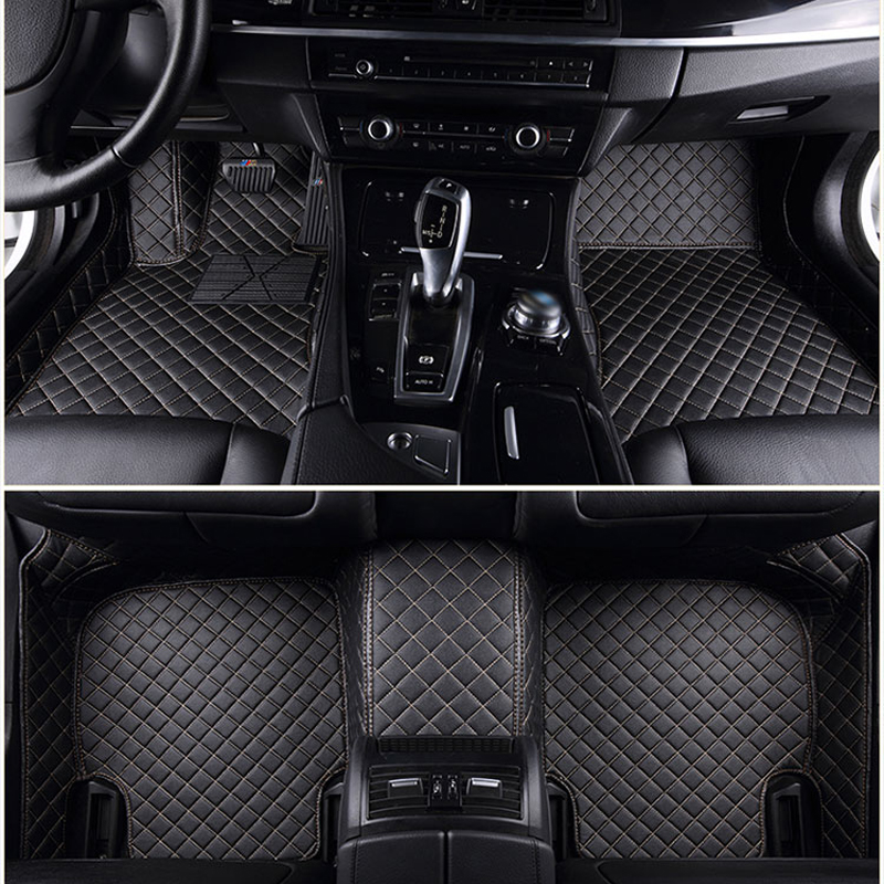 ChiTu custom car floor mats for Volkswagen Beetle CC Eos <font><b>Golf</b></font> Tiguan <font><b>Golf</b></font> <font><b>R</b></font> GT Passat Amarok 3d car-styling car leather carpet image