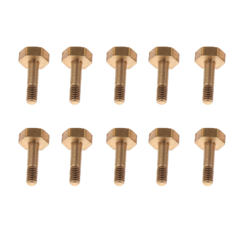 10 個の金属トランペット水キーネジ串バルブロッドゴールデン DIY トランペット修復部品