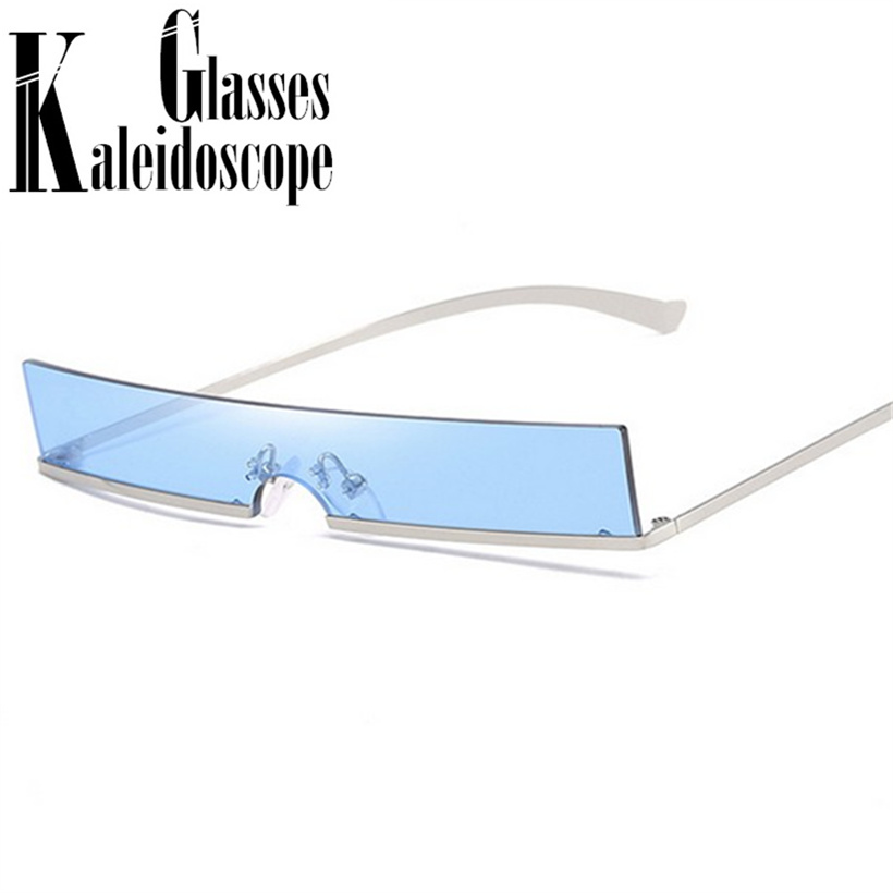 b9b2497dbd Cat Eye Sunglasses Women Fashion Metal Frame Brand Designer Small Sun Glasses  Vintage Rectangular Skinny Ladies