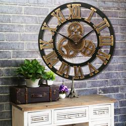 Ретро декоративные Wag-On-The-Wall 3D Винтаж стимпанк передач ручной работы деревянные настенные часы
