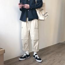 Men Leisure Cotton Casual Cargo Pants Active Elastic Harem Hip Hop Joggers Sweatpants streetwear Hot Sale