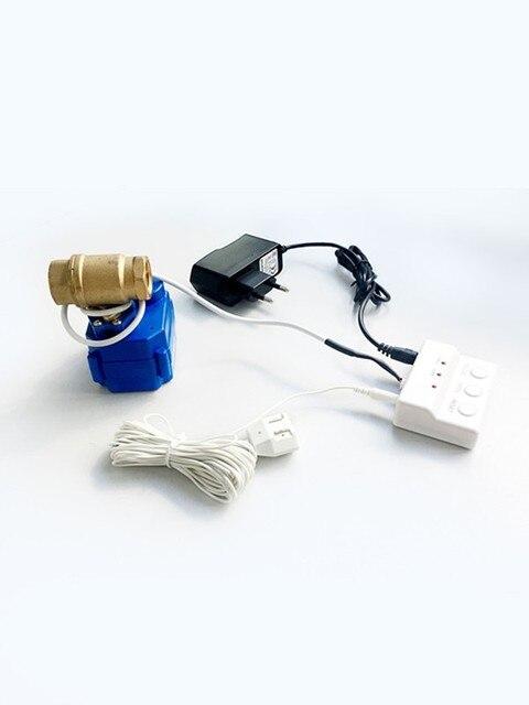 HIDAKA WLD 805 (DN15*1pc) Water Leakage Detector with EU Power Plug BSP NPT valve Leak Alarm Sensor with 1/2 auto Valve