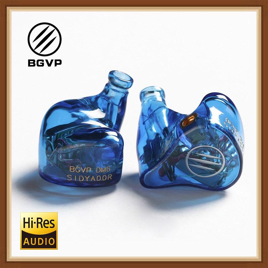 BGVP DM6 Audiophile HiFi Monitor de Fones de Ouvido À Prova D' Água fone de Ouvido Fone de Ouvido Personalizado 5BA Armadura Balanceada Fone de Ouvido Cabo MMCX IEM