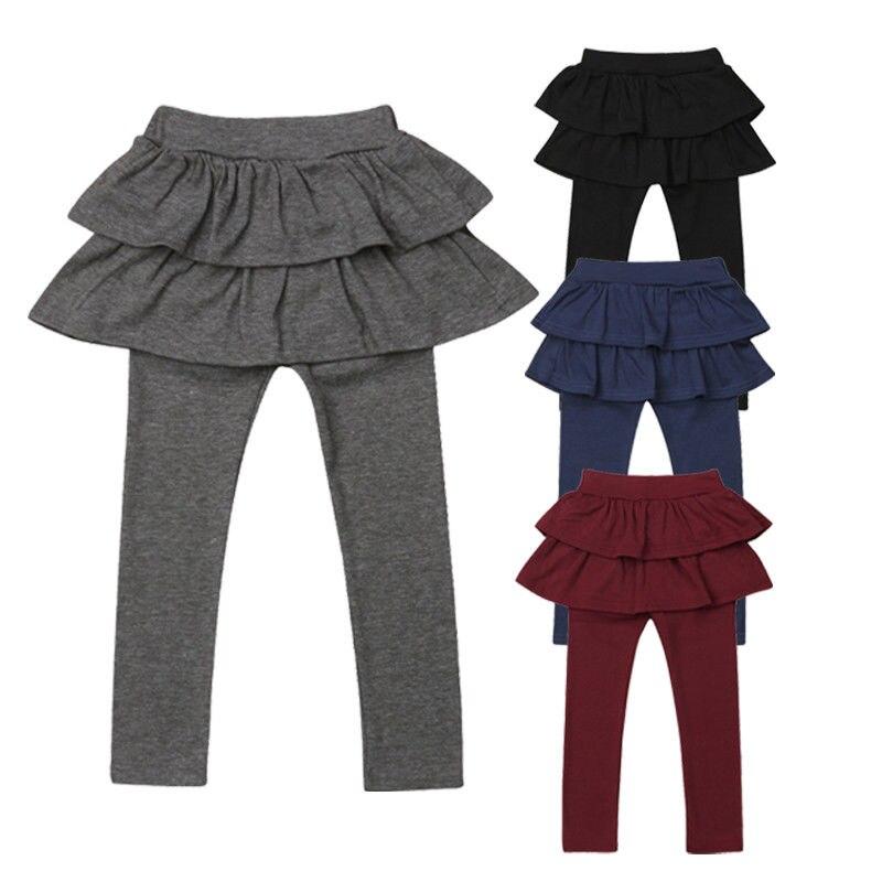 Toddler Kids Baby Girls Pant Skirt Culottes Leggings Solid Tutu Skirt Pants