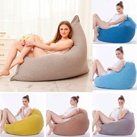 Lazy Bean Bag Sofa Cover Chairs Pouf Puff Couch Cloth Lazy BeanBag Sofas Without Filling Lounger Seat Tatami Furniture 160x130cm
