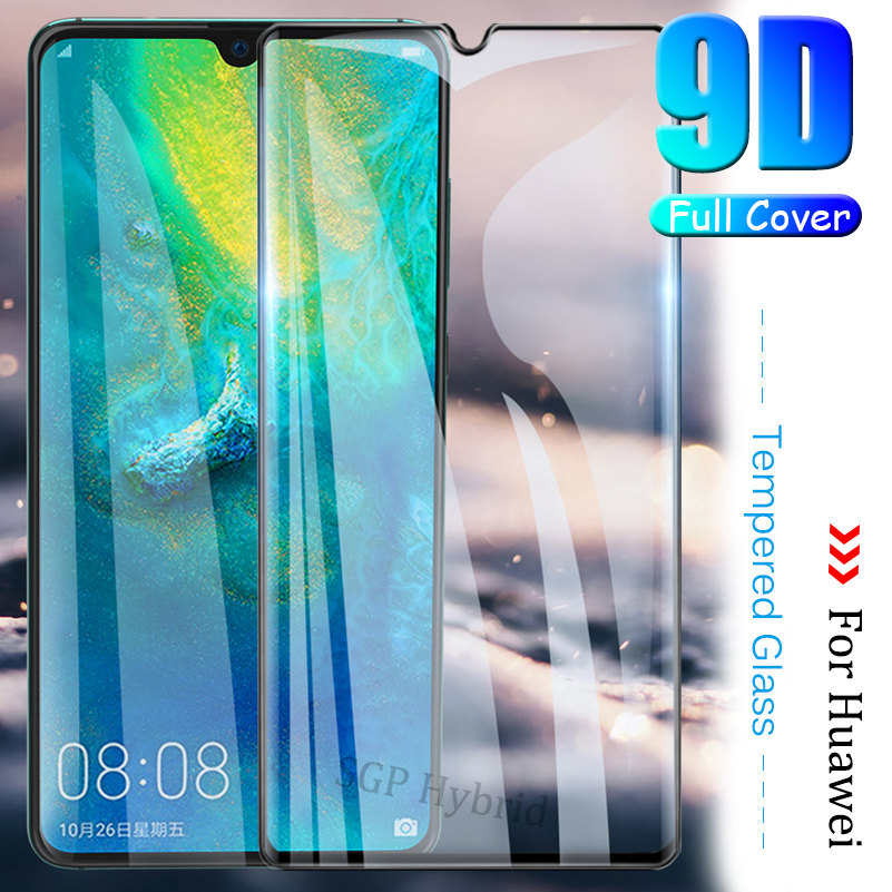 9D Sklo On The For <font><b>Huawei</b></font> P 30 20 10 <font><b>P30</b></font> P20 P10 <font><b>Pro</b></font> Lite Plus Tempered <font><b>Glass</b></font> Hauwei hawei P30Pro Film Curved Screen <font><b>Protector</b></font> image