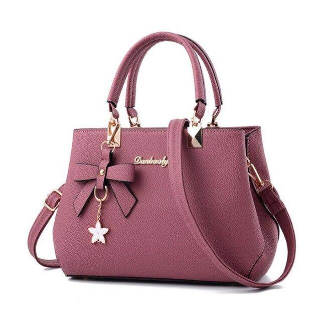 Elegant Shoulder Bag Women Designer Luxury Handbags Women Bags Plum Bow Sweet Messenger Crossbody Bag for Women High Quality