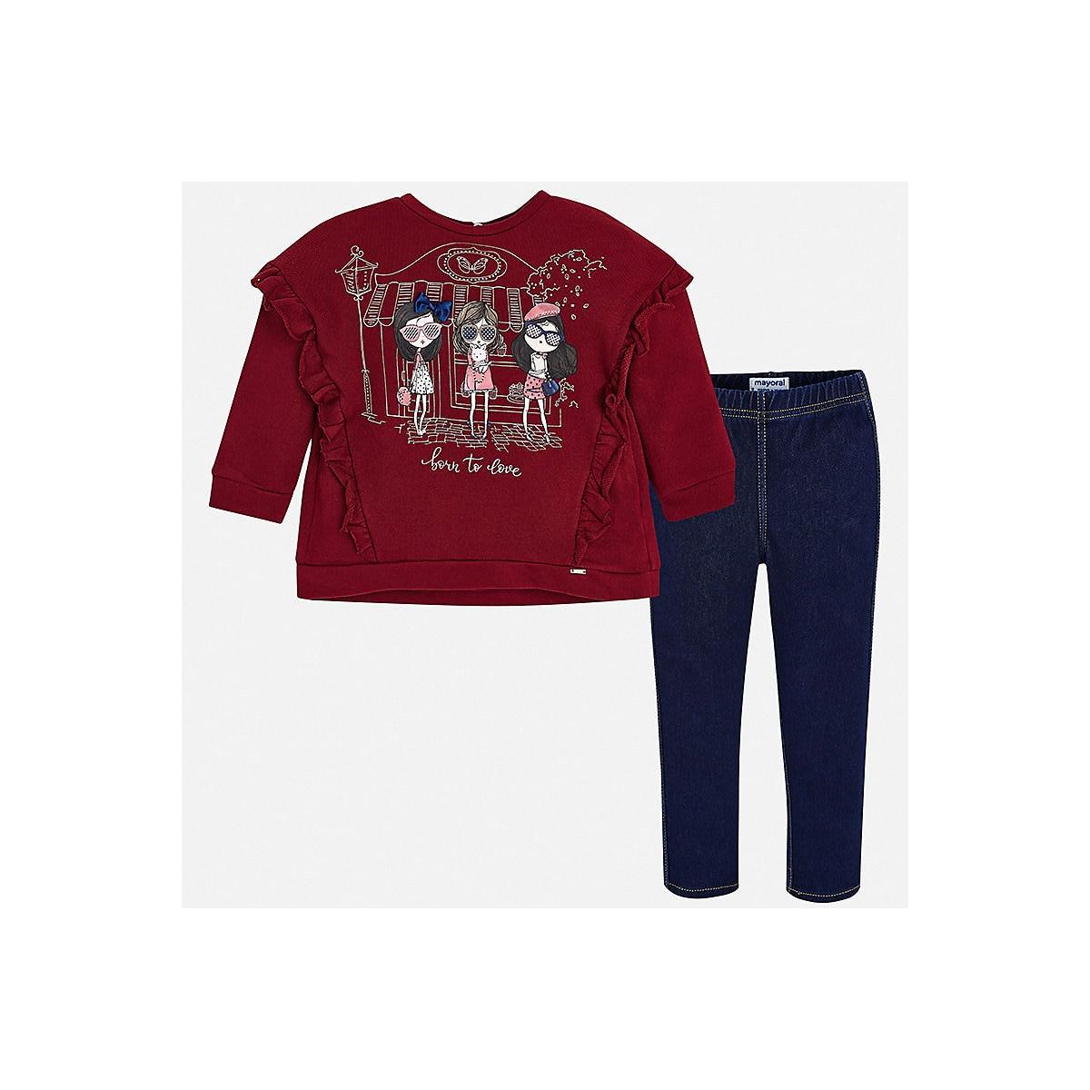 MAYORAL Children's Sets 8848772 Cotton Girls Fashion clothing costume for girl leggings T-shirt