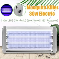 30W Household LED Mosquito Killer Lamp ABS Wall Mounted Outdoor Electric Anti Insect Pest Mosquitos Trap Bug Zapper Killer Light