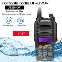 "uv9r מכשיר 100% מקורי Baofeng UV9R IP67 8W ארוך טווח מכשיר הקשר 10 ק""מ חובב רדיו Dual Band UV9R Portable CB רדיו Communicator (4)"