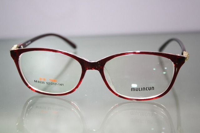 a5b981db39c3 Custom Made Glasses Minus Shortsighted Red Large Framed Briller Reading  Glasses -1 -1.5 -