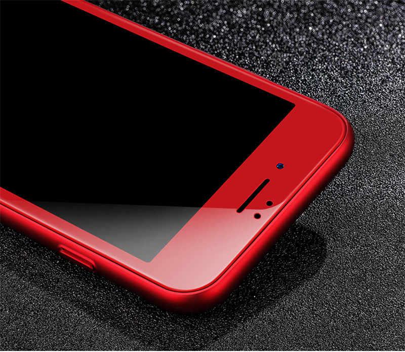 Dla Iphone 8 7plus 3d miękkie pełne etui do edge czerwona róża złota połysk z włókna węglowego ochronne szkło hartowane na ekran Film dla Iphone 6s