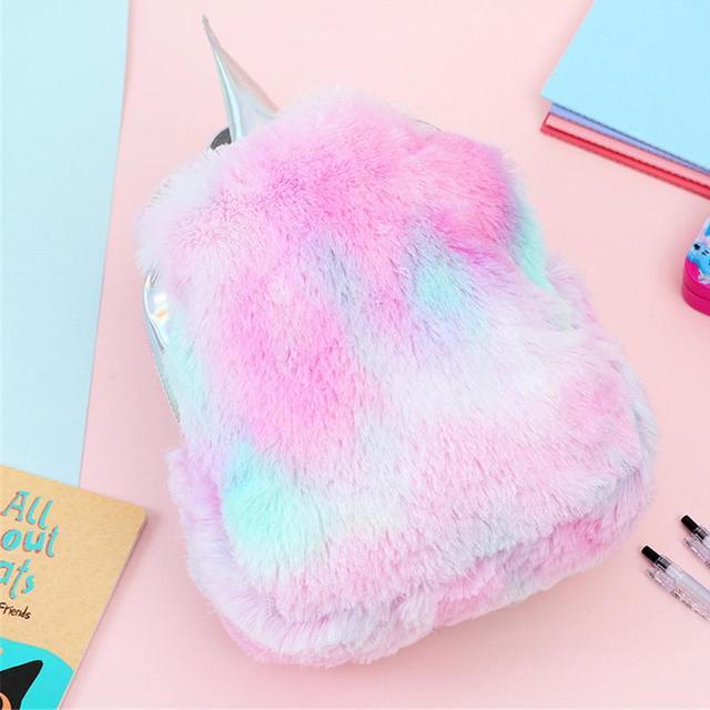 Hologram Unicorn Plush Backpack