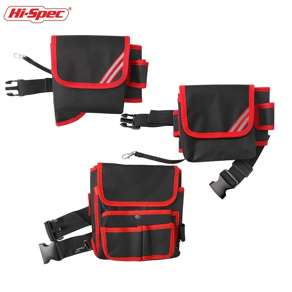 Hi-Spec Tool Belt Multi-pockets Tool Bag Waist Pockets Electrician PouchTool Bag Oganizer Waist Tool Holder Electric Drill Bag