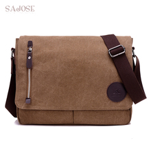 High Quality Retro Flip Men's Bag Canvas Handbag Me