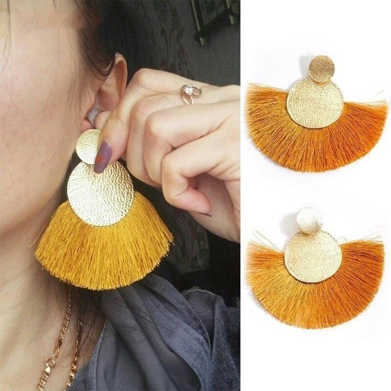 2019 Mode Ethnische Hängenden Tropfen Ohrringe Mode Quaste Ohrringe Für Frauen Big Fringe Ohrringe Modeschmuck Weibliche Sommer Stil Durchblutung Aktivieren Und Sehnen Und Knochen StäRken