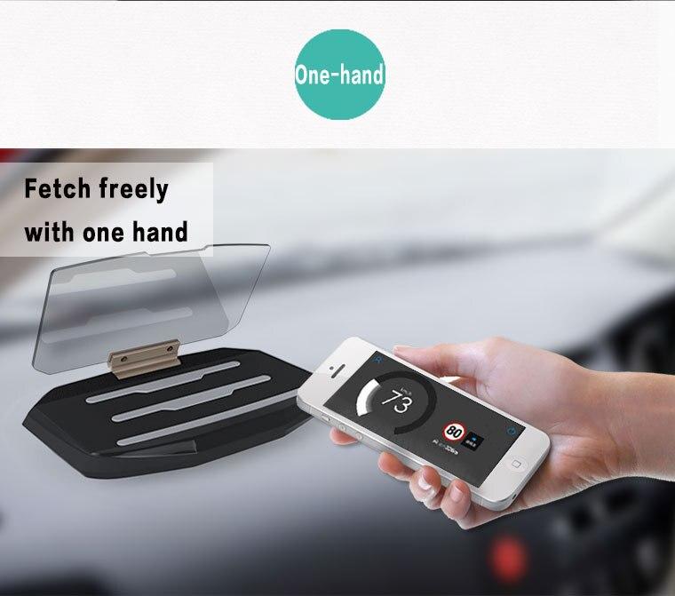 wireless car hud navigation head up reflective projector. Black Bedroom Furniture Sets. Home Design Ideas