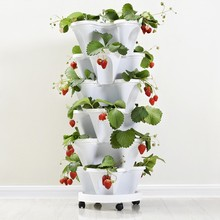 PP Three-dimensional Flower Pot Strawberry Basin Multi-layer