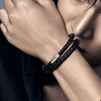 Bracelet Magnetique Cuir