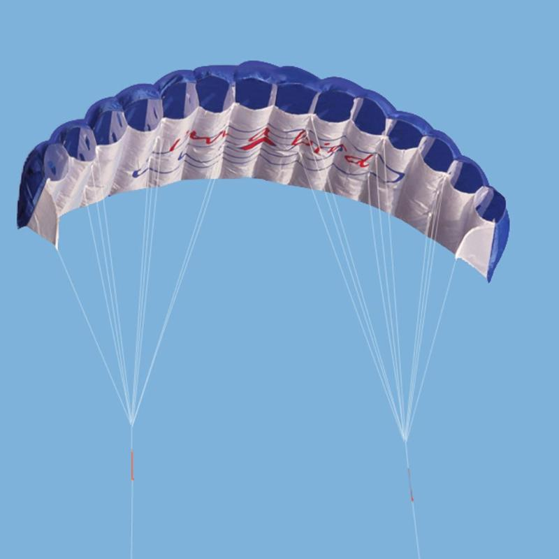 Dual Line Parafoil Kite Outdoor Fun Sports Beach Kite 30m Power Dual Line Stunt Parafoil Parachute Rainbow Adults KIds Toys
