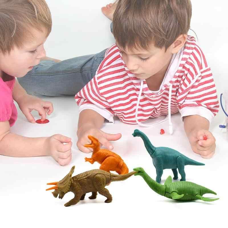 Plastic DIY Monteren Dinosaurus Speelgoed Kleine Tyrannosaurus Bouwstenen Cijfers Model Educatief Speelgoed Voor Kinderen Gift Brinquedo