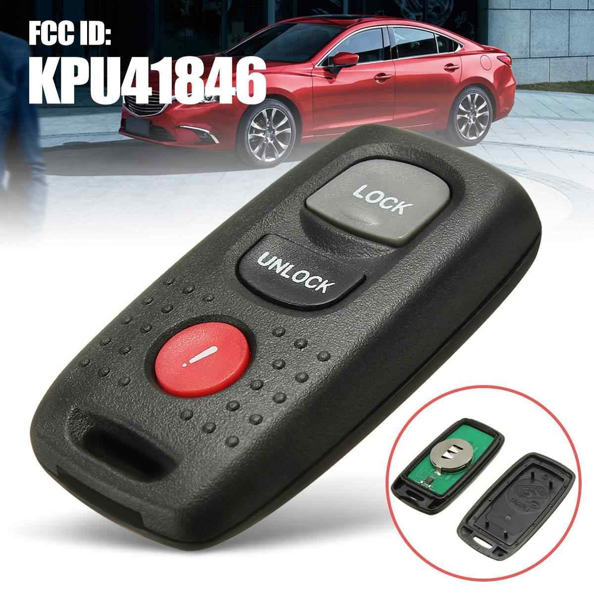 Clé de voiture à distance 3 boutons 313 MHZ avec piles CR2025 pour Mazda 3 5 6 2004 2005 2006 FCC ID: KPU41846 peut: 4238A-41846