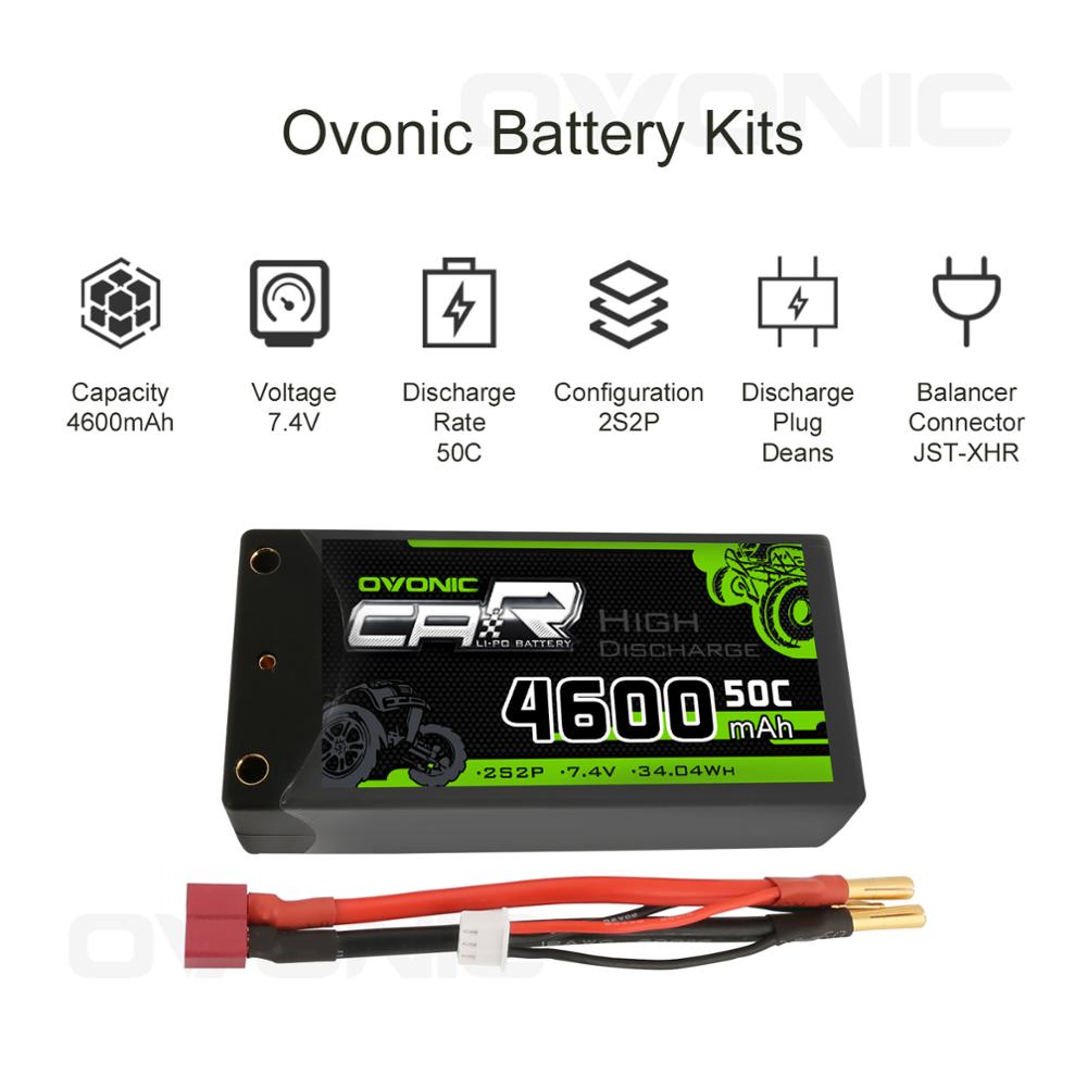 Image 3 - Ovonic 2S Shorty Lipo 7.4V 50C 2300mAh Hardcase Lipo Battery with 4mm Bullet Deans Ultra Plug Connector for RC 1/10 Scale Vehicl-in Parts & Accessories from Toys & Hobbies