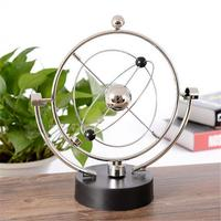 AUGKUN Globe Model Rotation Perpetual Motion Instrument Magnetic Orbit Ornament Orbital Newton Pendulum Model Office House Desk