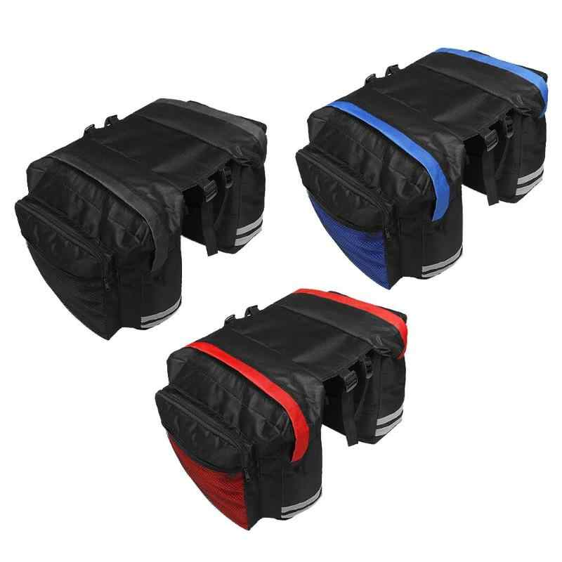 Double Mountain Bicycle Bag Bike Side Rear Rack Bag Tail Seat Trunk Bag Pannier MTB Bag Bike Accessories Cycling Activities