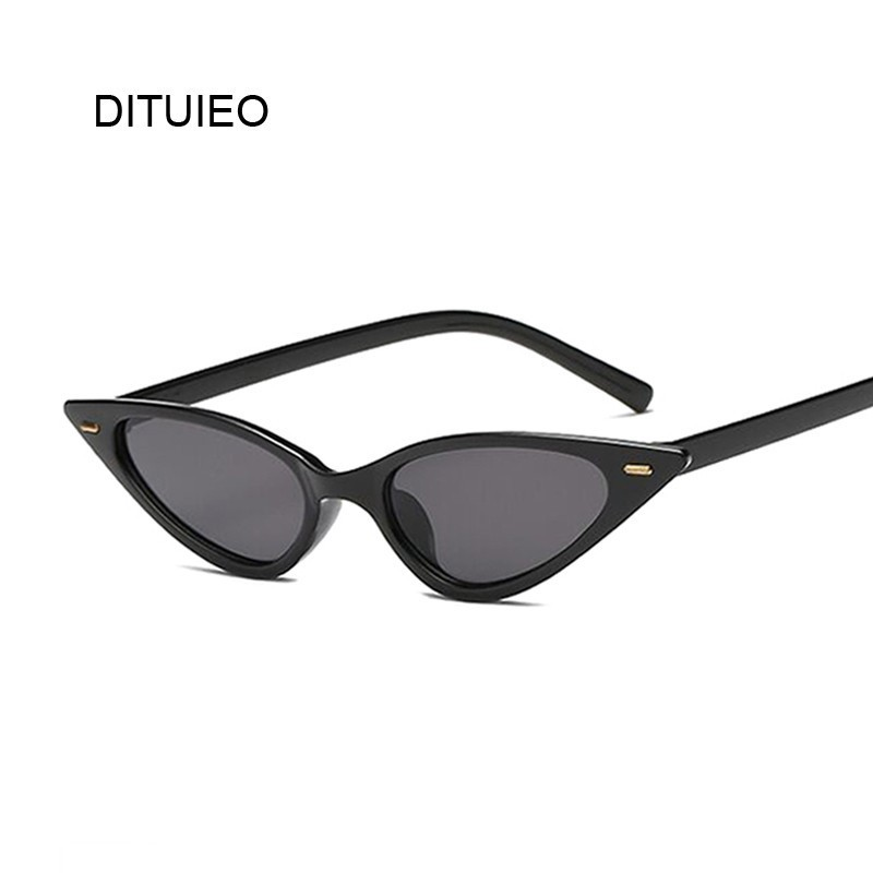 Vintage Sunglasses Women Cat Eye Luxury Brand Designer Sun Glasses Retro Small Purple Ladies Sunglass Black Eyewear Oculos