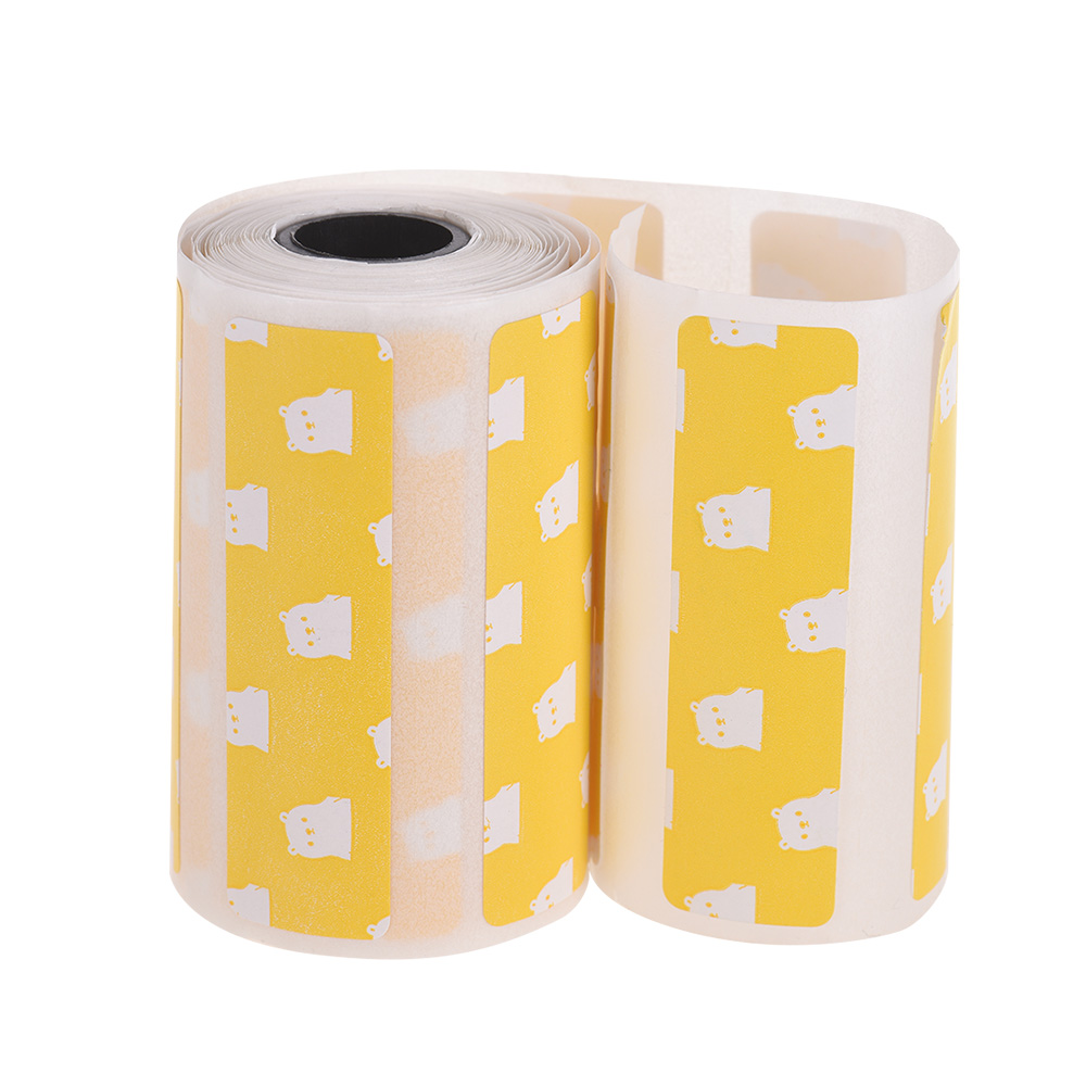 Cute Cartoon Direct Thermal Labels Roll 57*30mm(2 17*1 18in) Strong  Adhesive Sticker Clear Printing