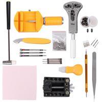 142 шт. набор инструментов для ремонта часов, открывалка для часов, инструмент для удаления контактных звеньев, инструменты для изготовления ...