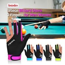 1 шт., 3 пальца, для снукера, бильярдные перчатки для мужчин и женщин, для бильярдного кия, для бассейна, для спорта, для правой и левой руки, бильярдные шутеры, перчатки для снукера