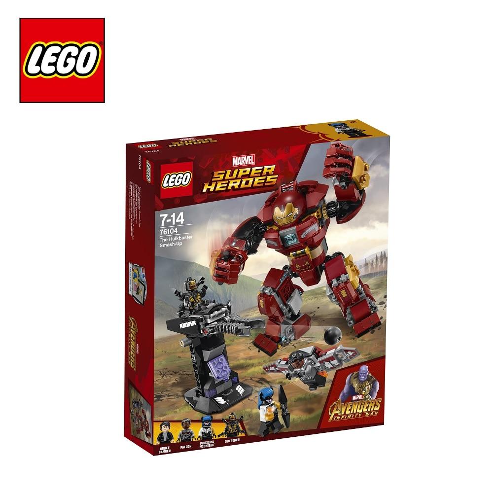 Blocks LEGO 76104 Super Heroes play designer building block set  toys for boys girls game Designers Construction lego super heroes 76104 бой халкбастера