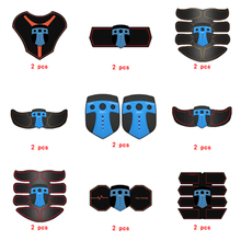 2pc Replacement Muscle Stimulator EMS Figure Slimming Machine Weight lossing Tens Exercise Slim Belt Rechargeable Part Blue