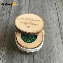 1pcs Rustic Wedding Decoration Vintage Ring Box Party Decorations Wood Decor Supplies for Decorating Pillow