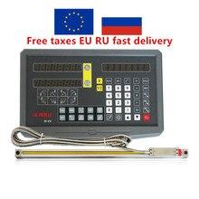 ЕС без налогов Fivetecnc 2 оси цифровая индикация дисплей DRO с 100-1020 мм линейные весы линейный энкодер для токарно-фрезерный станок