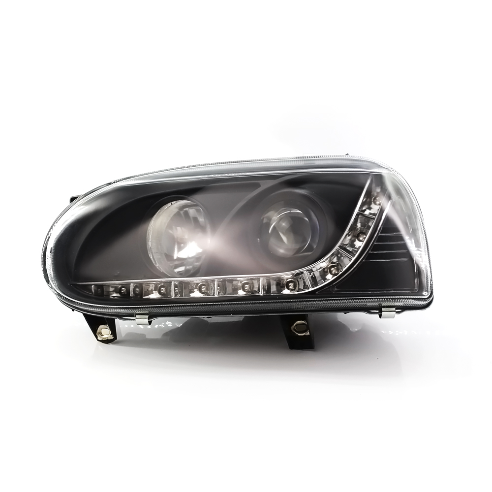 Front Car <font><b>Headlights</b></font> for Volkswagen <font><b>VW</b></font> <font><b>Golf</b></font> <font><b>MK3</b></font> 1993 1994 1995 1996 1997 1998 Car Light Assembly DRL Auto Headlamp image