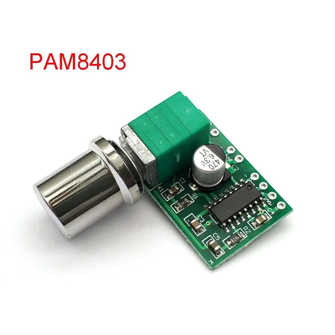 Mini PAM8403 DC 5 В 2-канальный USB цифровой аудио усилитель, плата модуля 2*3 Вт, регулятор громкости с измерителем мощности