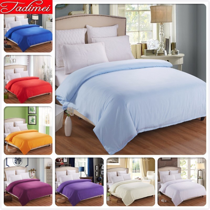 1 piece Duvet Cover Plain Pure Color Soft Cotton Bedding Bag Blue Adult Kids Girl Quilt Comforter Blanket Case <font><b>150*200</b></font> 180*200cm image